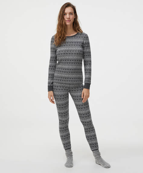 Comfort feel jacquard leggings