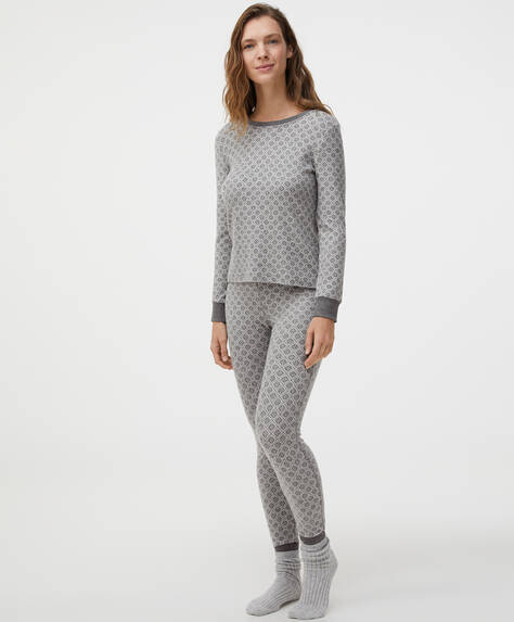 Comfort Feel Leggings mit Jacquardprint mit Rauten