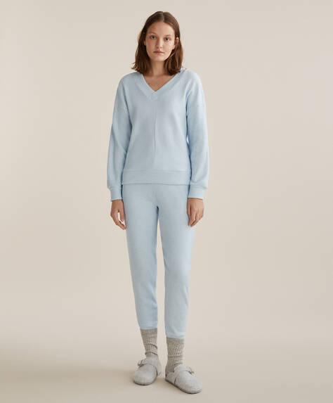 Pantaloni comfort feel cu manșete