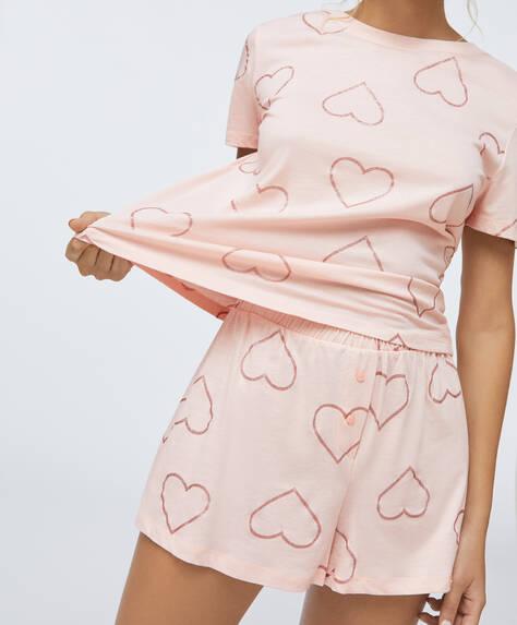 Glitter heart shorts