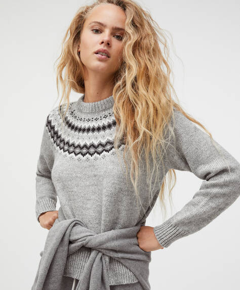 Alpine jacquard knit jumper