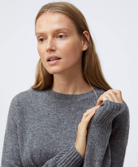 100% cashmere jumper round-neck jumper