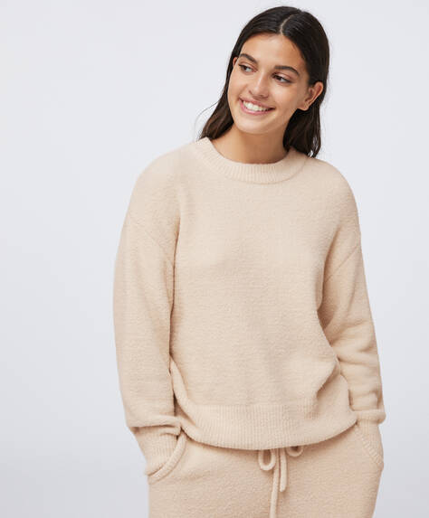 Soft touch fluffy jumper