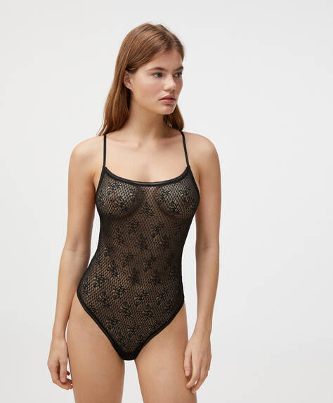 Lace lingerie body