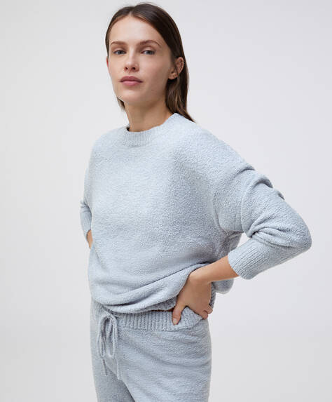 Extra-soft fleece sweatshirt