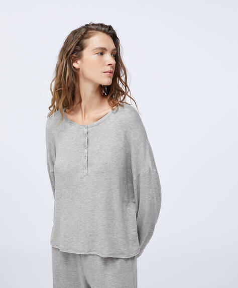 Camiseta gris relax wear