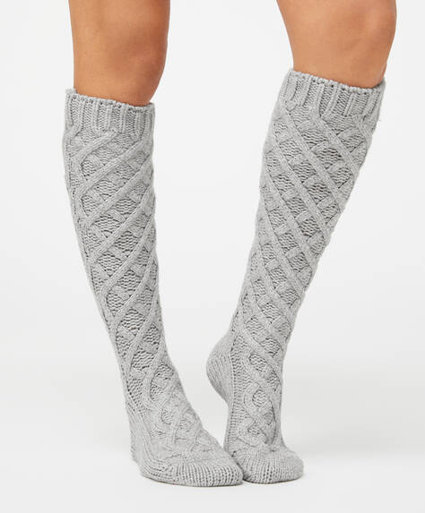 Long structured socks