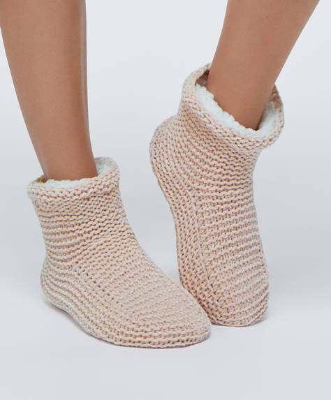 Slippers i chenille