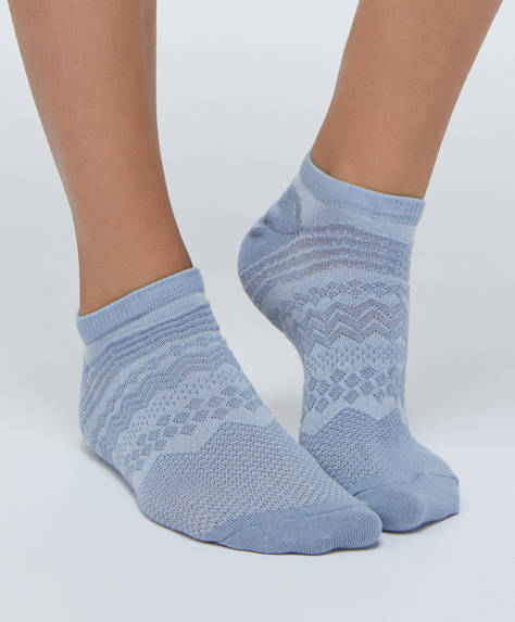 5 pairs of stripe pattern ankle socks