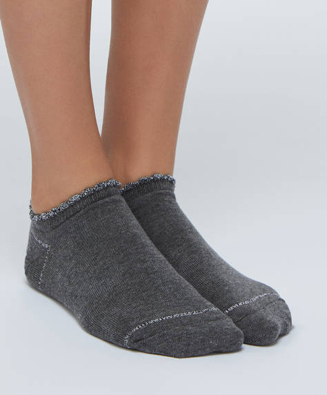 5 pairs of two-tone ankle socks