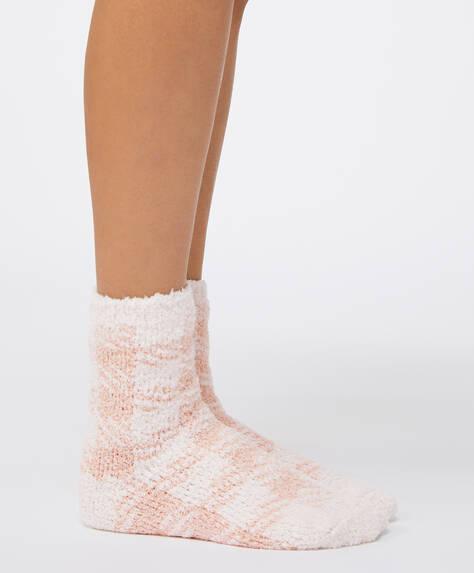 2 pares de calcetines gruesos vichy