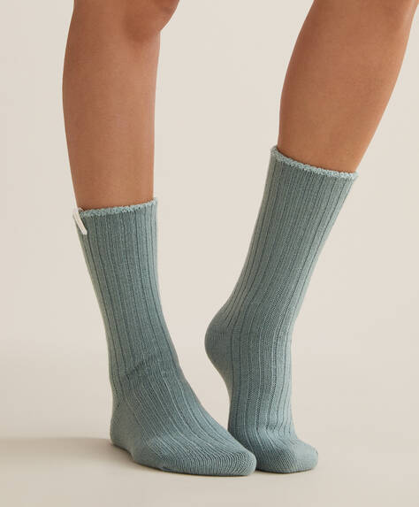 Ribbed soft touch socks