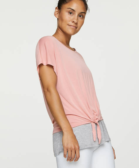 Knotted modal double T-shirt