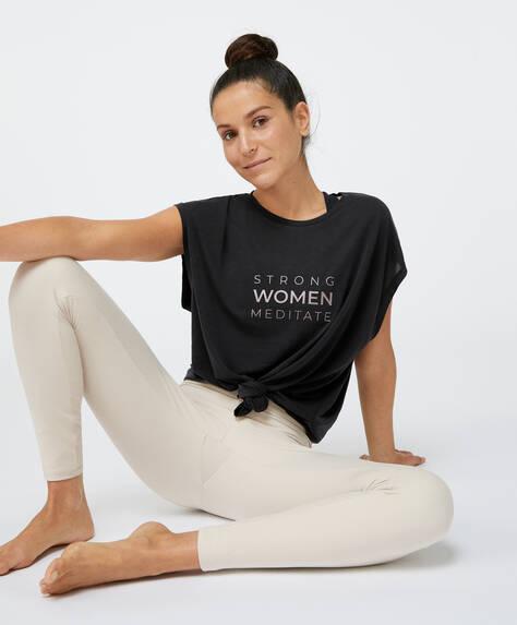 T-shirt i modal med print af besked
