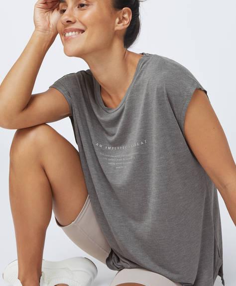 Modal slogan T-shirt