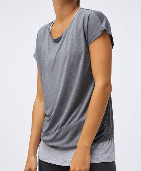 T-shirt i dobbelt modal