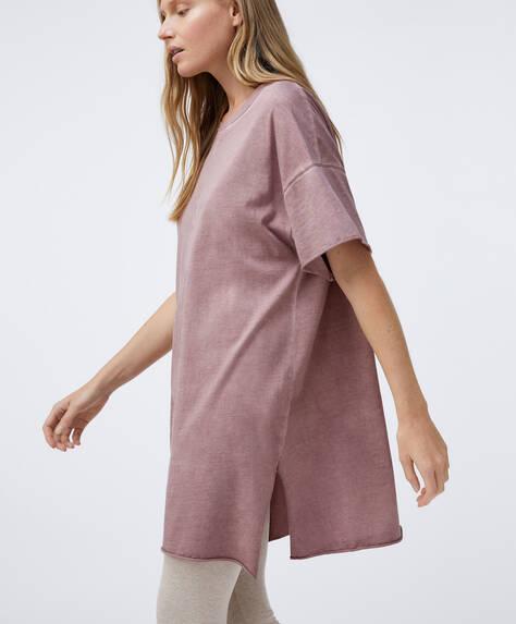 Oversized T-shirt van katoen