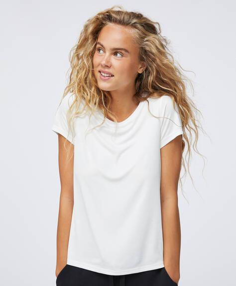 T-shirt i modal med ribstruktur
