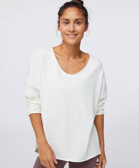 Maglietta scollatura a V 100% cotone