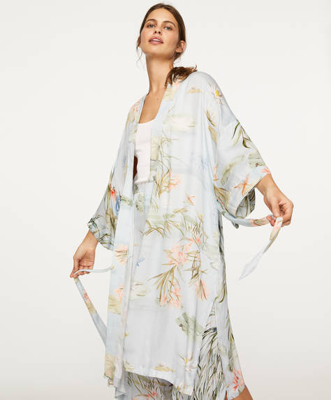 Long water lily dressing gown