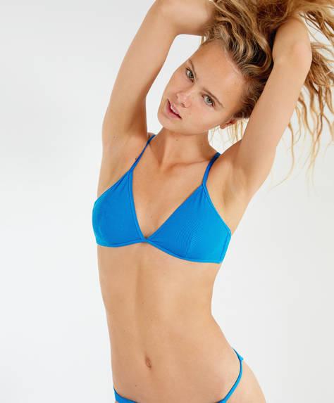 Blå bikinitopp