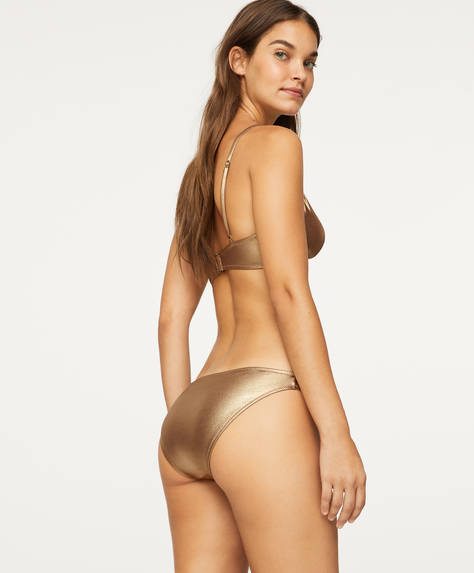Gold-tone classic briefs