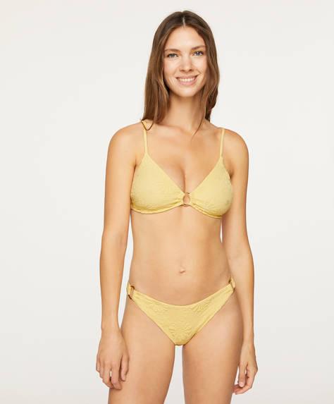 Floral print Brazilian bikini bottoms