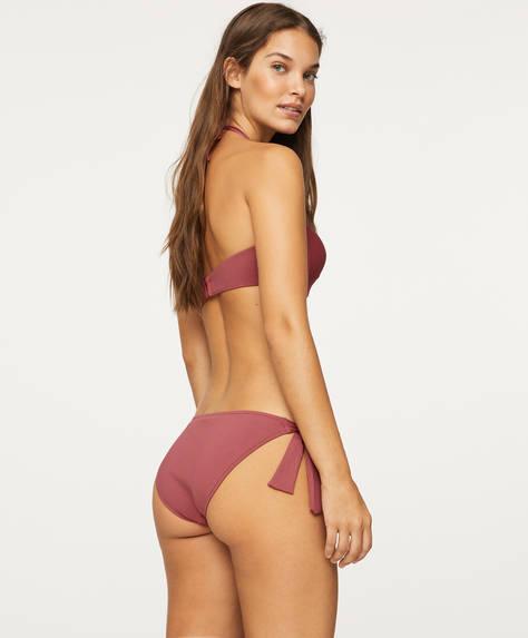 Bas de bikini classique à nœuds