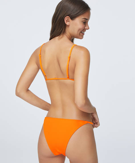 Fluorescent strappy Brazilian briefs