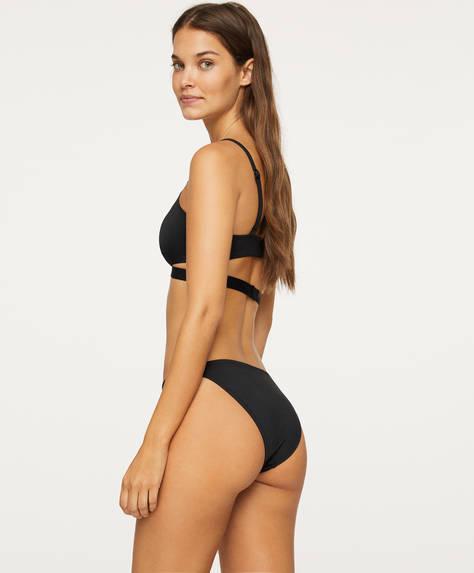Slip bikini clasic cu benzi încrucișate