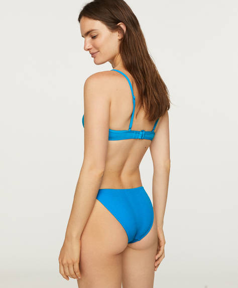 Strappy blue classic briefs