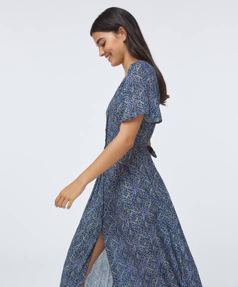 Long lilac floral dress
