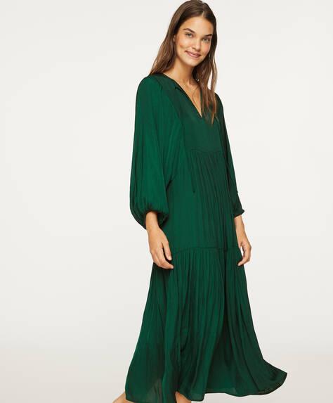 Satiniertes Oversize-Kleid