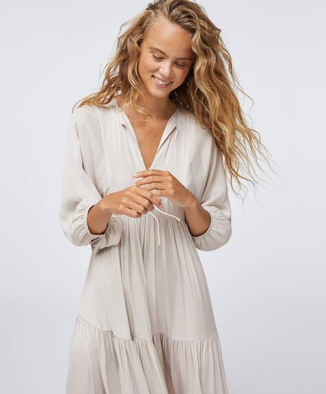 Oversize satin dress