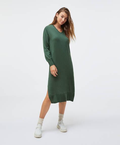 Triko midi elbise