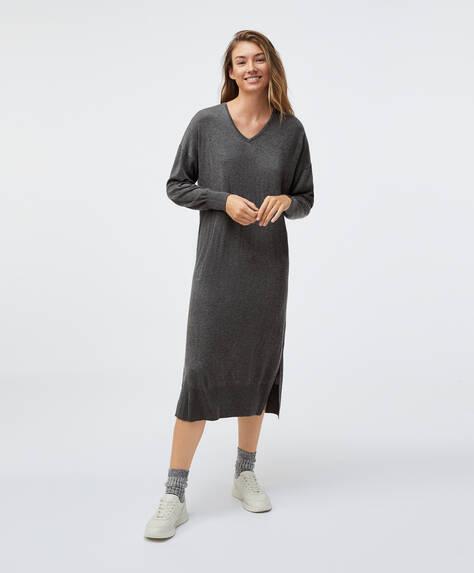 Fine knit midi dress