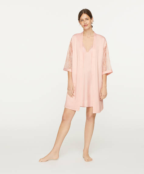 Lace bath robe