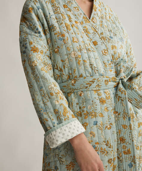 100% cotton dressing gown