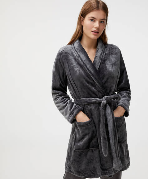 Anthracite grey dressing gown