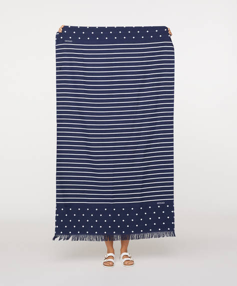 Breton stripe towel