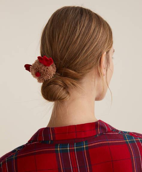 Reindeer pompom hairband