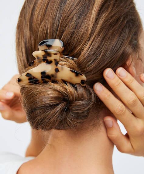 Зажим для волос черепаховой расцветки