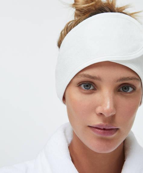 Косметическая повязка для волос на текстильной застежке