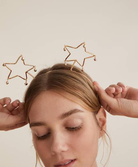 Diadema navideña estrellas