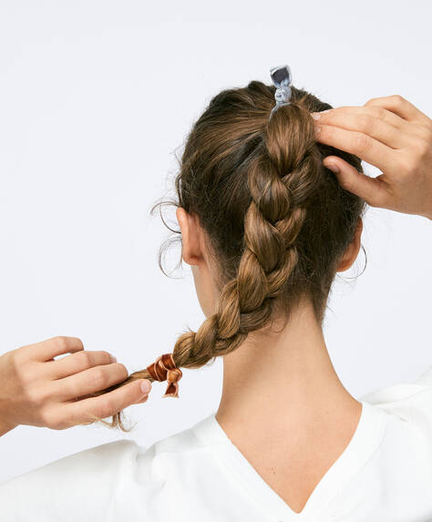 5 velour hair ties