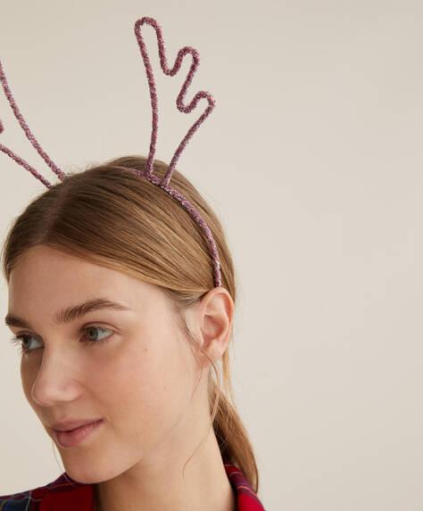 Christmas reindeer headband.