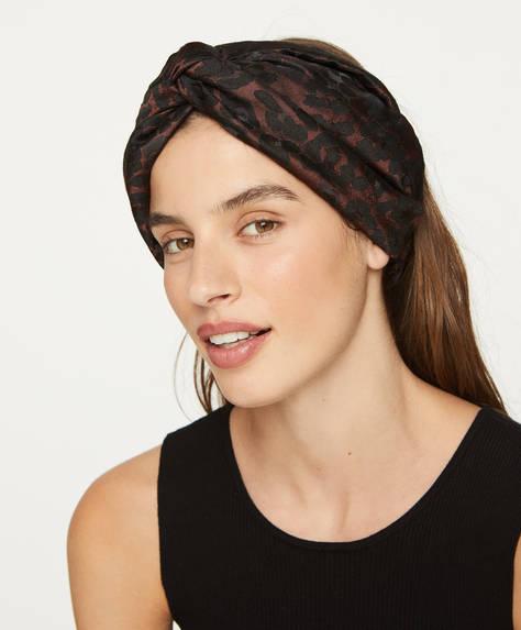 Jacquard maxi turban headband