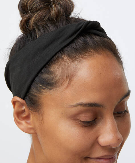 Plain black head band