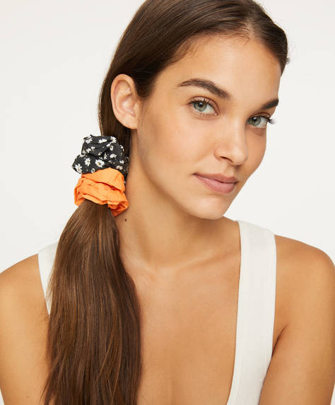 2 ditsy floral scrunchies
