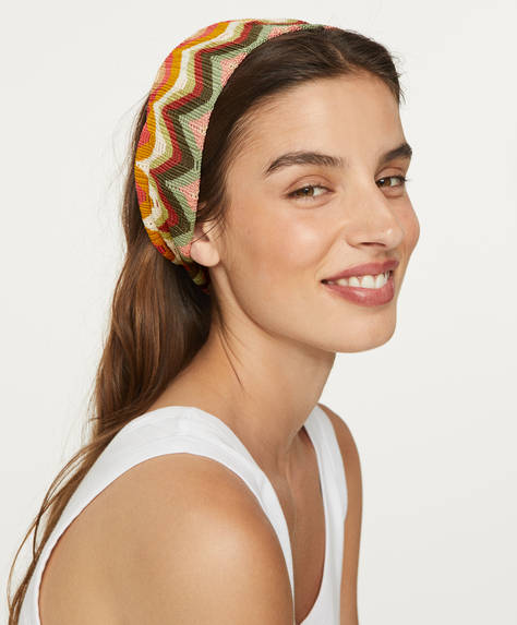 Zigzag turban headband